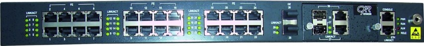 Gigabit Carrier Ethernet switch with Layer 3 routing