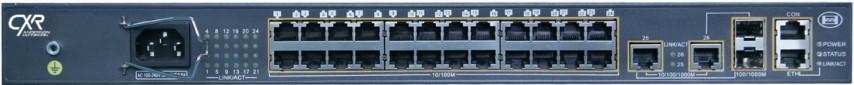 Switch Gigabit Ethernet 24 ports FE et 2 GbE