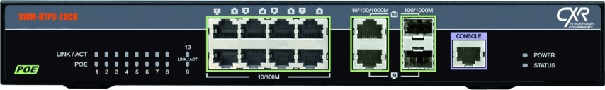 Gigabit Ethernet switch POE