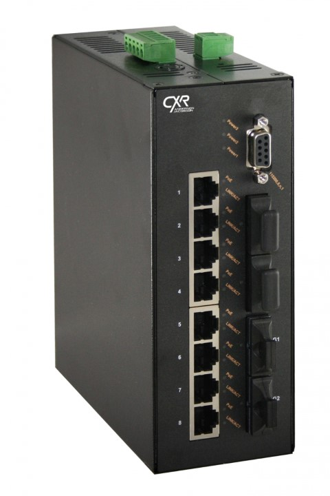 Switch Ethernet POE rail DIN endurci industriel